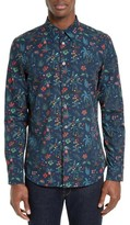 Paul Smith Men's Floral Print Sport Shirt