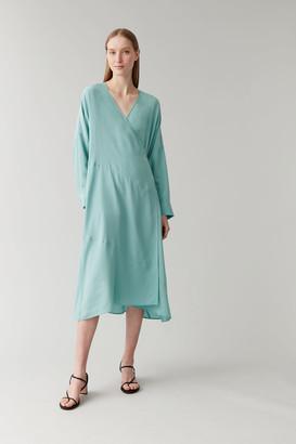 Cos Mulberry Silk Wrap Dress