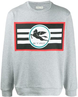 Etro Long Sleeve Printed Logo Sweater