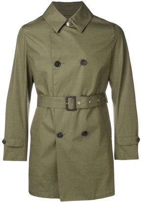 MACKINTOSH Khaki Cotton Storm System Short Trench Coat GM-005BS
