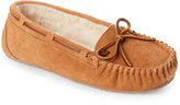 Minnetonka Cinnamon Faux Fur Junior Trapper Moccasins