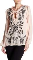 Cynthia Rowley Embroidered Silk Blouse