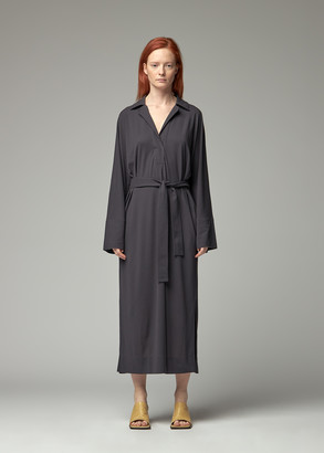 Lemaire Women's Polo Shirt Dress in Graphite Size Large