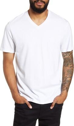 Vince Regular Fit Garment Dyed V-Neck T-Shirt