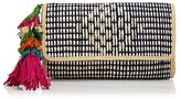 Mar y Sol Dalia Straw Clutch