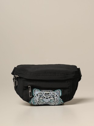Kenzo Belt Bag In Canvas With Tiger Paris Logo