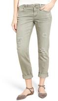 Caslon Boyfriend Jeans (Green Distressed)