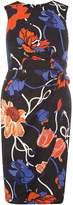 Dorothy Perkins Multi Coloured Floral Print Knot Side Pencil Dress