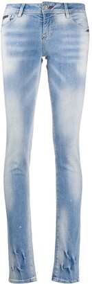 Philipp Plein Denim Low Rise Skinny Jeans