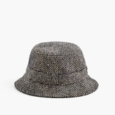 J.Crew Irish herringbone tweed bucket hat in khaki