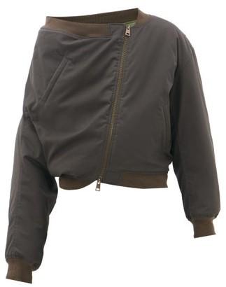 Y/Project Upside-down Cotton-canvas Bomber Jacket - Mens - Dark Green