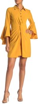 Laundry by Shelli Segal Front Tie Bell Sleeve Shirt Dress (Regular & Plus Size)