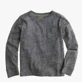 J.Crew Boys' slub long-sleeve pocket T-shirt