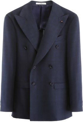 CC Collection Corneliani Deconstructed Tartan Blazer