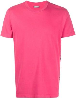 Moncler side logo embroidered T-shirt