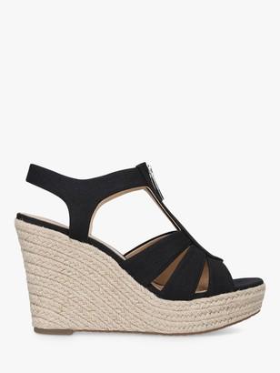 Michael Kors MICHAEL Berkley Zip Up Wedge Sandals, Black