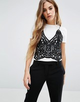 First & I 2 in 1 Lace Cami Top