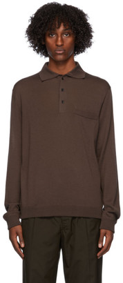 Lemaire Brown Long Sleeve Polo