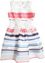 Simonetta Striped Organza Party Dress