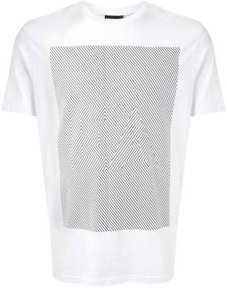 Emporio Armani geometric logo print T-shirt