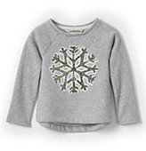 Classic Toddler Girls Embellished Cozy Sweatshirt-Sparkling Snowflake