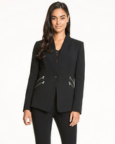 Le Château Double Weave Raised Collar Blazer