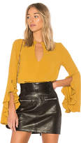 C/Meo Gossamer Long Sleeve Top in Mustard. - size L (also in M,S,XS)