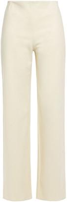 Theory Stretch-cotton Ponte Wide-leg Pants