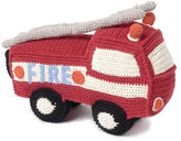 Anne Claire Crochet Fire Engine with Bell - Red