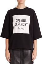 Opening Ceremony Logo Cut-Off Sweat Tee