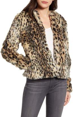 Chelsea28 Faux Leopard Fur Jacket