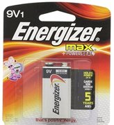 Energizer MAX Alkaline Battery 9 Volt 1 Each (Pack of 4)