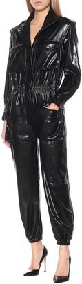 Norma Kamali Turtle stretch-patent jumpsuit