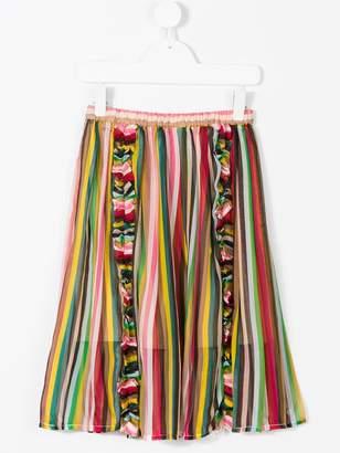 No.21 Kids striped skirt