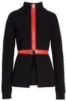 Givenchy Women's Zip Cutaway Knit Cardigan