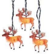 Kurt Adler 10-Light Reindeer with Antlers Light Set