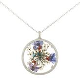 Catherine Weitzman Large Wisdom Flower Round Pendant Necklace, Silver/Multi