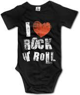 Aowar Unisex I Love Rock N' Roll Baby Outfits Onesies
