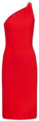 Givenchy One-shoulder stretch-jersey midi dress