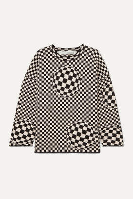 Off-White Off White Checked Cotton-blend Sweater - Black