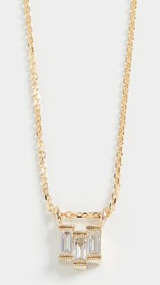 Jennie Kwon Designs 14k Diamond Baguette Step Necklace