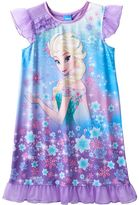 Disney Disney's Frozen Elsa Girls 4-12 Cosmic Knee-Length Dorm Nightgown