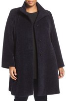 Plus Size Women's Cinzia Rocca Due Wool & Alpaca A-Line Coat