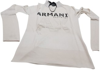 Emporio Armani White Linen Knitwear for Women