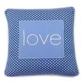 One Grace Place Simplicity Blue Decorative Pillow Love