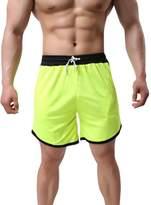 LETSQK Men's Loose Sportwear Swimwear Surf Swimsuit Bathing Swim Trunks XL