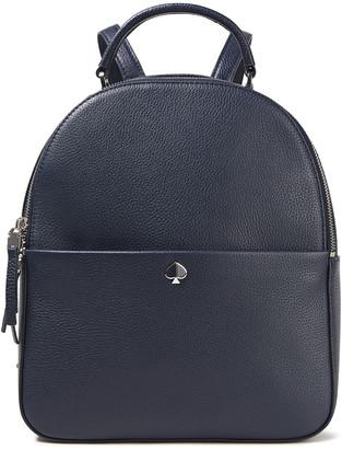 Kate Spade Logo-appliqued Pebbled-leather Backpack