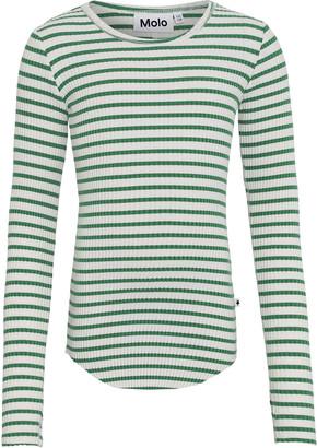 Molo Girl's Rochelle Striped Long-Sleeve Rib Tee, Size 3T-16