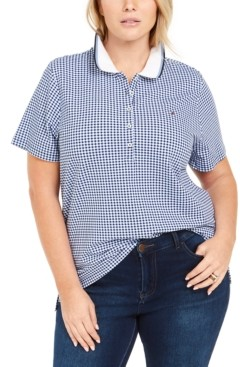 Tommy Hilfiger Plus Size Gingham Polo Shirt