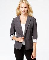 Kensie Long-Sleeve Faux-Pocket Blazer